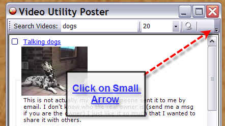 Video Utility Poster Options Tab