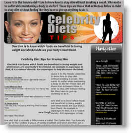 Celebrity Diets for keeping fit and losing weight