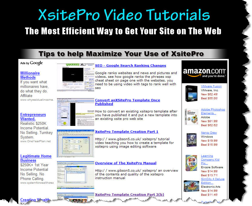 Xsitepro Video Tutorials